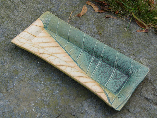 Schale kupfergrün 30x12cm