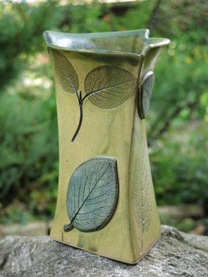 Vase kupfergrün 19cm hoch