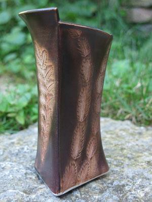 Vase honigbraun 16cm hoch
