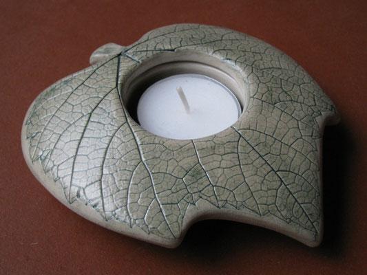 Teelicht grün 15cm breit