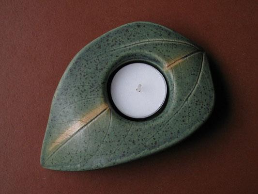 Teelicht kupfergrün 12cm breit