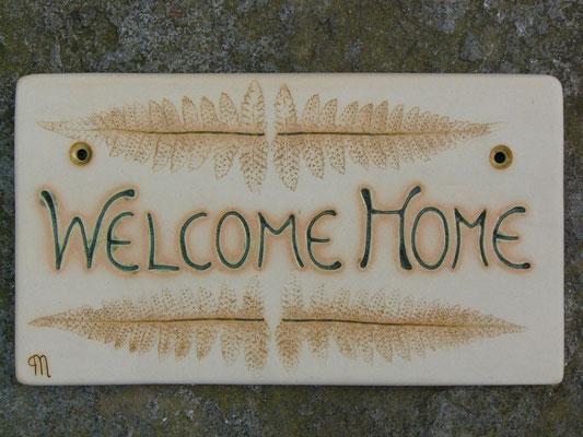 "Türschild ""WELCOME HOME"" 23x13cm"