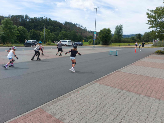 Inline-Handball-Spiel
