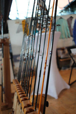 A small selection of Scott Flyrods from the Flyfish Europe booth. - Picture: Danica Dudes