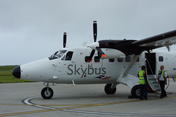 Ons vervoer naar de eilanden: Skybus! Leuke beleving!