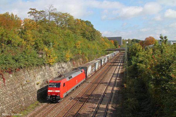 152 030 mit GA 52981 Saarbrücken Rbf Nord - Köln-Eifeltor Bez III, Saarbrücken 09.10.2015