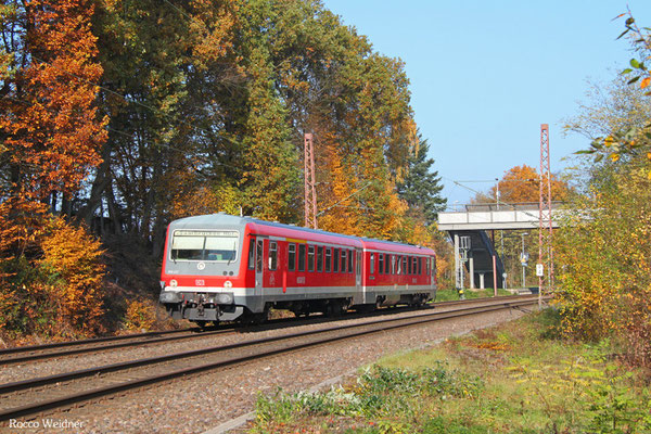 628 472 als RB 12224 Lebach-Jabach - Saabrücken Hbf, Fischbach-Campausen 01.11.2015