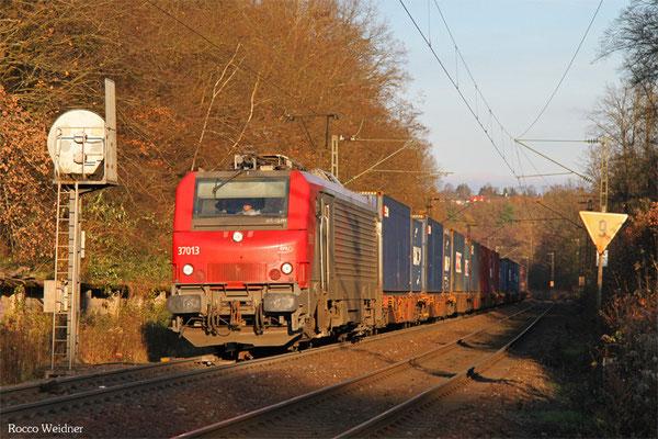 BB37013 mit DGS 42226 Ludwigshafen (Rhein) BASF Ubf - Lyon-Guillotiere, Saarbrücken 03.12.2015