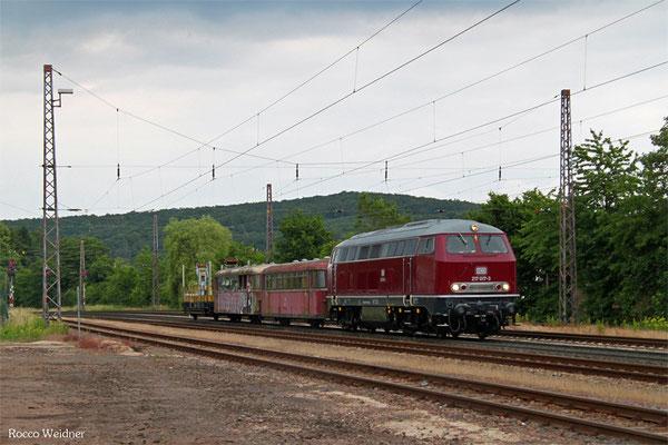 RHG 217 017 mit 93171 Schwarzerden - Langmeil (Worms) (Sdl.Überführung 996 251 und 998 175) , Dudweiler 19.06.2015