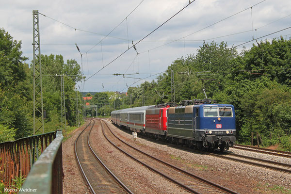 DT 181 201 + 181 213 mit IC 2055 Saarbrücken Hbf - Heidelberg Hbf, Saarbrücken 16.06.2015