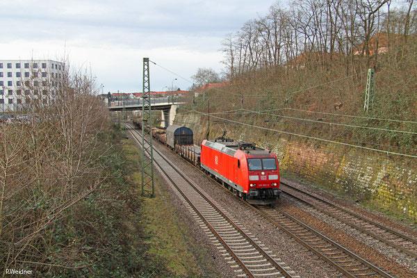 185 065 mit EK 55975 Völklingen Walzwerk - Saarbrücken Rbf Nord, Saarbrücken 15.01.15