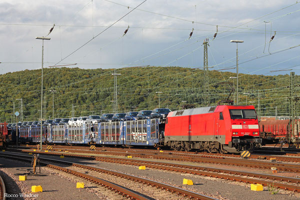 152 069 mit EZ 50917 Saarbrücken Rbf West - Dillingen Ford (Sdl. Autowagen), 18.09.2015
