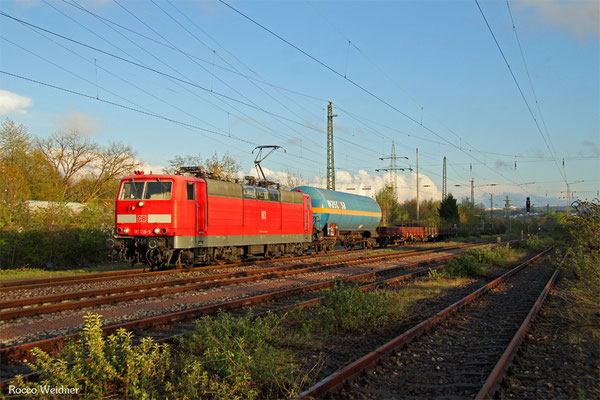 181 218 mit EK 55885 Saarbrücken Rbf West - Neunkirchen(Saar) Hbf, Saarbrücken-Schleifmühle 27.04.2016