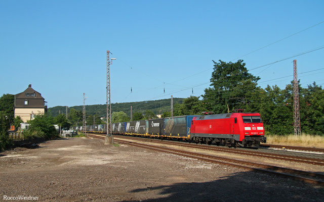 152 018 mit GA 49240 München Ost Rbf - Forbach/F (Noisy-le-Sec), Dudweiler 16.07.2015
