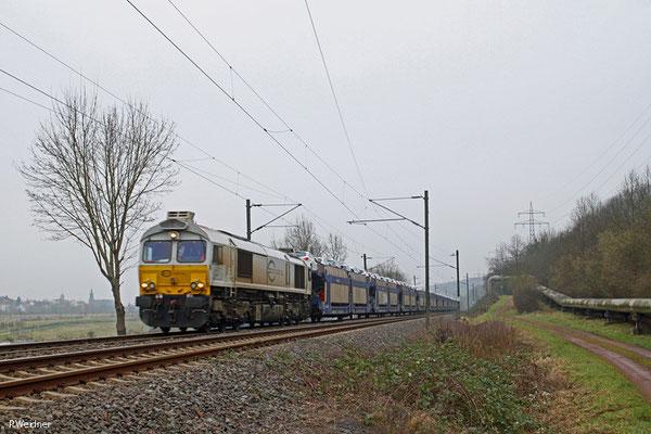 ECR 77 014 mit EK 55980 Saarbrücken Rbf West - Fürstenhausen, Gersweiler 23.01.15