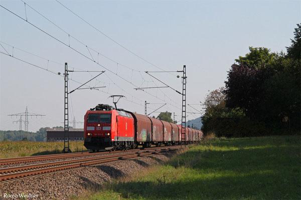 185 033 mit EZ 51906 Mannheim Rbf Gr.G - Saarbrücken Rbf Nord, Vogelbach 11.09.2015
