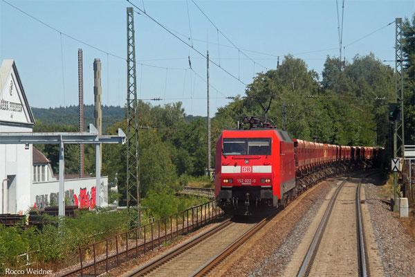 152 022 mit GB 60717 Karlsruhe Gbf - Einsiedlerhof, Kaiserslautern 03.08.2015