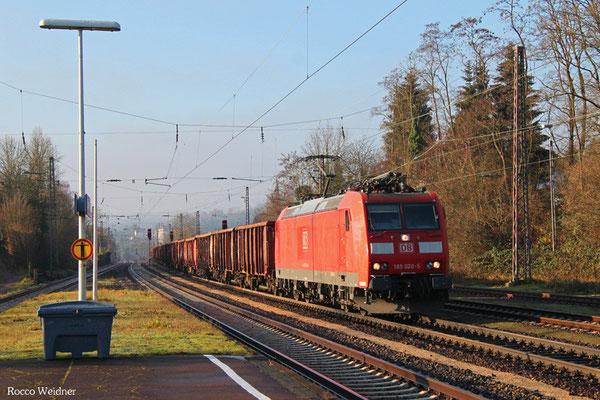 185 020 mit GM 60543 Völklingen - Neunkirchen(Saar) Hbf, Dudweiler 08.12.2015