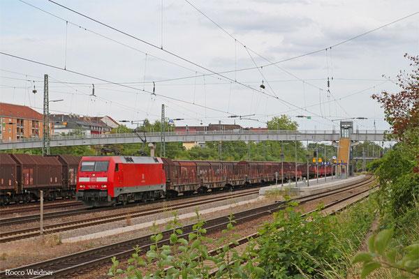 152 037 mit GM 60554 Saarbrücken Rbf West - Völklingen (Leerlauf Stahlverkehr), SB-Burbach 12.07.2015