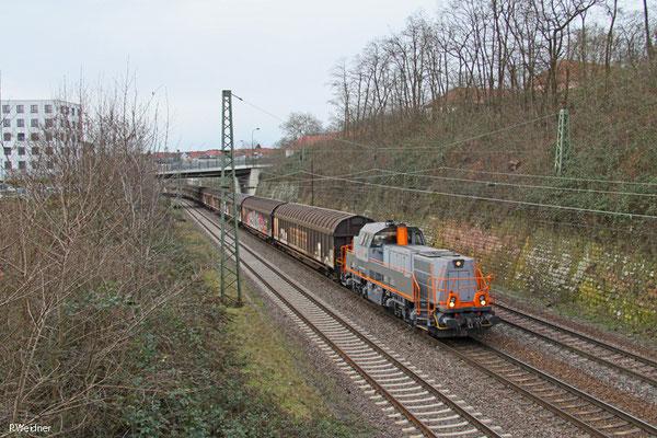 Saarrail Gravita mit DGS 95694 Völklingen Walzwerk - Saarbrücken Rbf Nord (Sdl.), Saarbrücken 15.01.15