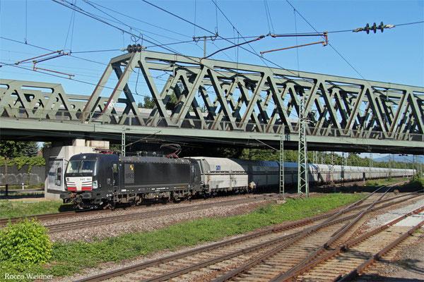 MRCE 193 862 mit DGS 74823 Plochingen - Koblenz-Lützel Mitte (Sdl.leere Falns), Mannheim 03.08.2015