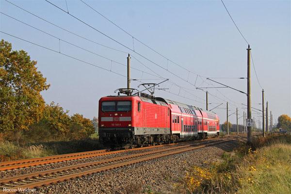 112 146 mit RB 28749 Cottbus - Falkenberg(Elster), Beiersdorf 28.10.2015