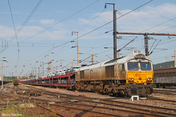 ECR 77 005 mit EZ 49266 Einsiedlerhof - Forbach/F (Villers-Cotterêts), Forbach Triage 05.07.2015