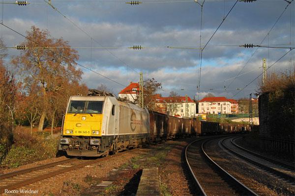 186 345 mit GA 44422 Einsiedlerhof - Forbach/F (Irun/E) (Sdl. Teile, Zubehör für Kfz), Saarbrücken 26.11.2015