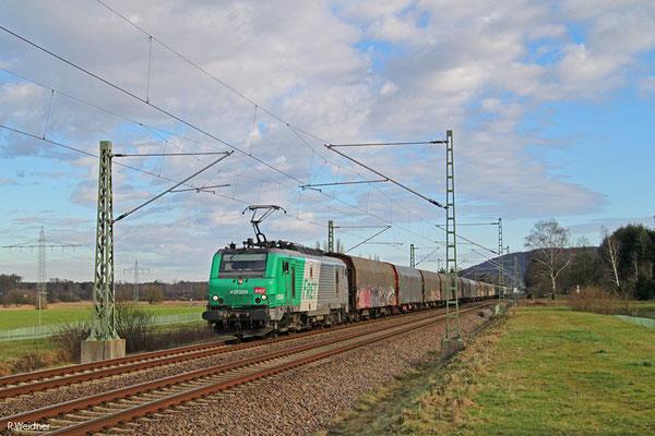 """SNCF FRET BB37009 mit """"Wasserzug"""" aus Worms nach Forbach/F, Vogelbach 13.01.15"""