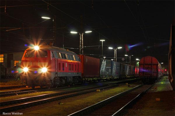 218 005 mit EK 55957 Dillingen(Saar) - Saarbrücken Rbf Nord, 09.11.2015