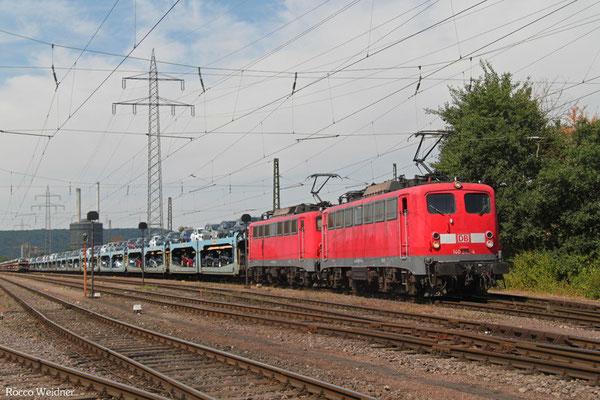 DT 140 843 + 140 858 mit GA 44795 Dillingen Ford - Emmerich Grenze (Vlissingen Sloeh) (Sdl.PKW), Ford 24.07.2015