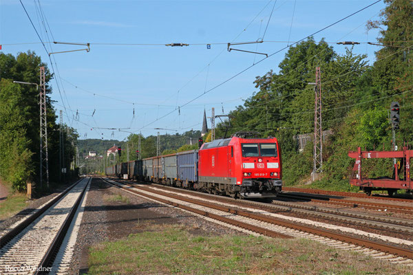 185 019 mit EZ 52660 Ehrang Nord - Homburg(Saar) Hbf, Dudweiler 16.08.2015