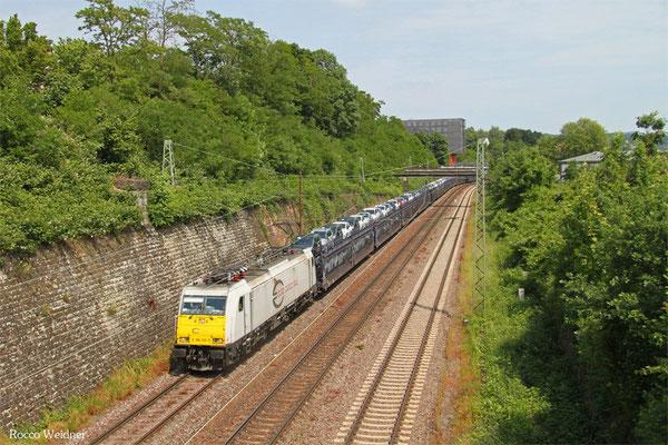 ECR 186 345 mit GA 48298 Trnava/SK - Gevrey/F (GEFCO) , Saarbrücken 08.06.2015