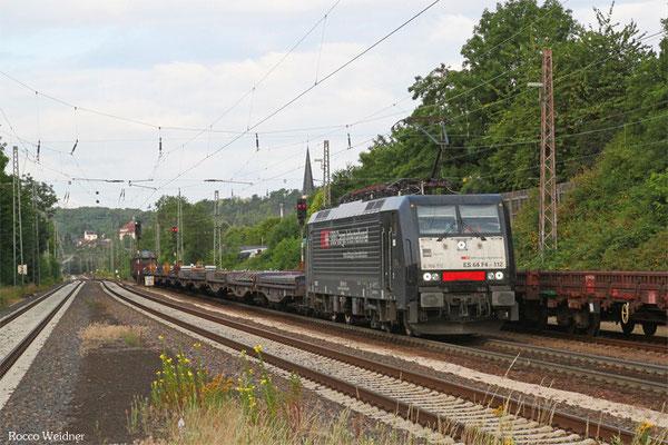 SBB Cargo 189 112 mit DGS 40751 Völklingen Walzwerk - Neunkirchen(Saar) Hbf (Sdl., weiter nach Chiasso Transito), Dudweiler 08.07.2015