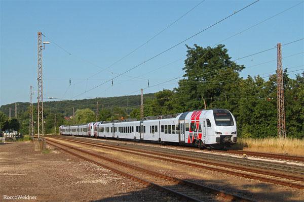 429 109 + 429 118 als RE Mannheim Hbf - Koblenz Hbf (Umleiter wegen kurzfristiger Sperrung KBS 670), Dudweiler 16.07.2015