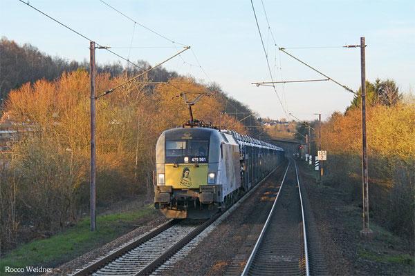 GySEV 470 501 mit DGS 98823 Passau - Saarbrücken Rbf Nord (Sdl.PKW), Dudweiler 09.04.2015