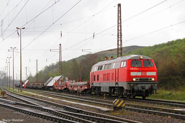 225 073 mit EK 55923 Dillingen Hochofen Hütte - Saarbrücken Rbf Nord, 13.04.2016