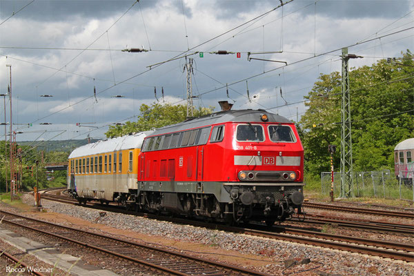218 401 mit ST 93310 Merzig - Ensdorf(Saar) (Sdl.), Dillingen 19.05.2015