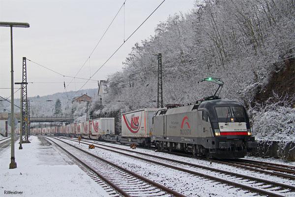 TXL 182 529 mit DGS 43501 (Bettembourg/L) Forbach/F - München Laim Rbf (KV), Saarbrücken-Jägersfreude 25.01.15