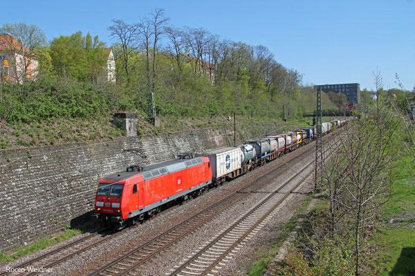 145 072 mit KT 98809 Saarbrücken Rbf Nord - Köln-Eifeltor Bez III (Sdl.KV, ex 42560), Saarbrücken 20.04.2015