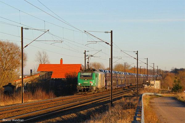BB27032 mit 49814 Mulhouse-Nord - Uckange (Zeebrugge), Suisse 25.01.2016