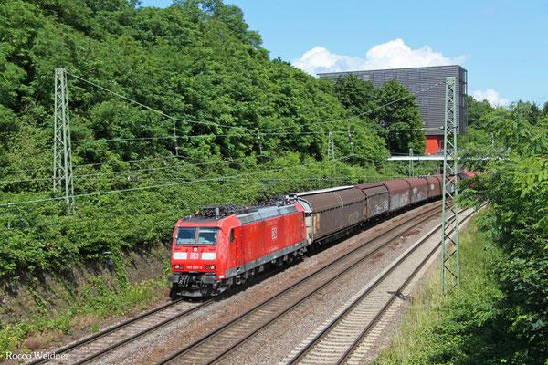 185 029 mit EZ 44210 Saarbrücken Rbf West - Blainville-Damelevières/F(EV Railnet France), Saarbrücken 23.06.2015