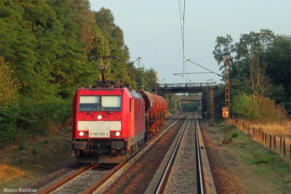 186 340 mit GB 62200 Homburg(Saar) Hbf - Gerolstein (Sdl.Schotter), Dillingen 12.08.2015