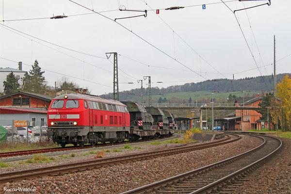 225 073 mit M 62515 Neunkirchen(Saar) Hbf - Baumholder (Sdl. Militär mit Bza), Ottweiler 16.11.2015