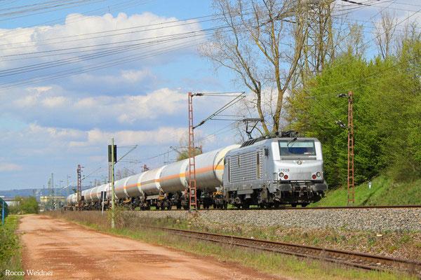 BB37028 mit DGS 44424 Duisburg-Wedau - Forbach/F (Sdl.), Ensdorf Saar) 18.04.2016