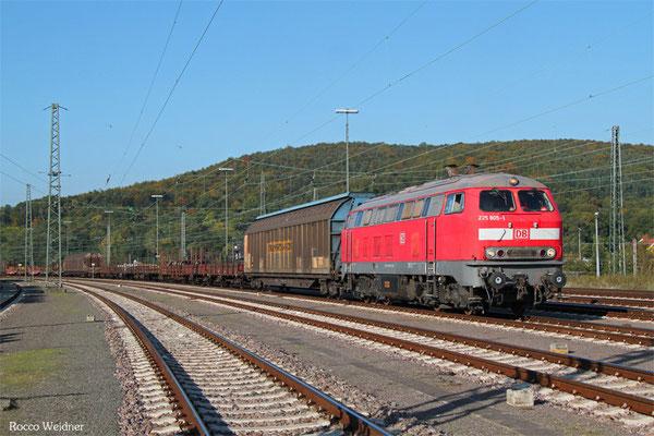 218 005 als R1 in Saarbrücken Rbf am 11.10.2015