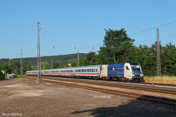 182 524 (i.E. für DB FV) mit IC 2054 Frankfurt/M Hbf - Saarbrücken Hbf (Umleiter wegen kurzfristiger Sperrung KBS 670), Dudweiler 16.07.2015