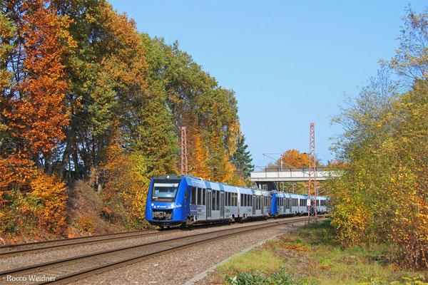 622 442 + 620 416 als RE 29516 Frankfurt/Main Hbf - Saarbrücken Hbf (Umleiter), Fischbach-Campausen 01.11.2015