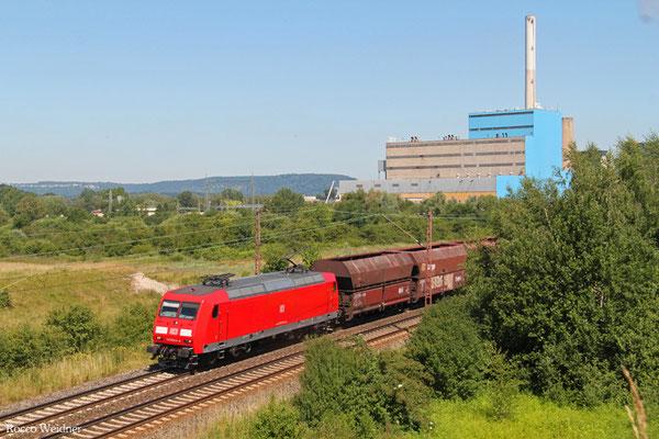 145 044 mit GM 62479 Dillingen Hochofen Hütte - Karlsruhe Rheinbrücke Raffinerie (Sdl.leere Fal), Ensdorf (Saar) 30.06.2015