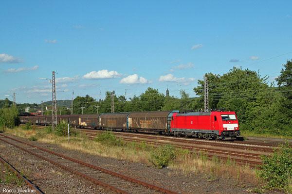 186 337 mit EZ 44426 Landsweiler-Reden - Saarbrücken Rbf Nord (Gevrey/F) (Sdl. EV), Sulzbach(Saar) 21.07.2015